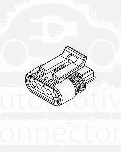 Delphi 12162825 5 Way Black Metri-Pack 150.2 Sealed Female Connector Assembly