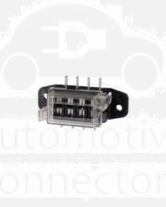 Narva 54420BL 4-Way Standard ATS Blade Fuse Box with Transparent Cover, Gasket and 8 Terminals  (Blister Pack)