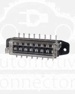 Narva 54424BL 8-Way Standard ATS Blade Fuse Box with Transparent Cover, Gasket and 16 Terminals (Blister Pack)