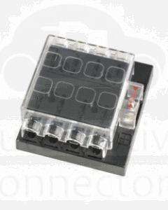 Narva 54433 8 Way Standard ATS Fuse Block with Transparent Cover