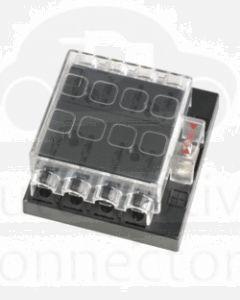 Narva 54433 8 Way Standard ATS Fuse Block with Transparent Cover