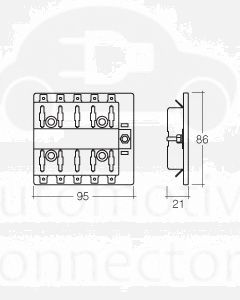 Narva 54434 10 Way Standard ATS Fuse Block