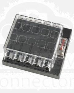 Narva 54435 10 Way Standard ATS Fuse Block with Transparent Cover