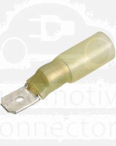 Narva 56324 Yellow Blade Male Heatshrink Terminals 6.3mm x 0.8mm (Pack of 50)