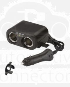 Narva 81046BL Cigarette Lighter Plug with Extended Lead, Accessory Sockets and Lighter Fixture