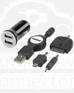 Narva 81054BL Twin USB Power Adaptor Kit