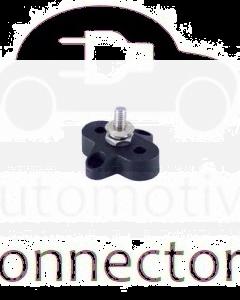Prolec JBSM10B Single Stud Junction Block - 34mm Black