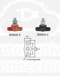 Bussmann JB3816-3 Stud Junction Block 3/8-16 Red 250A