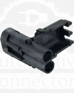 Delphi 12010973 2 Way Black Weather Pack Shroud Sealed Male Connector Housing