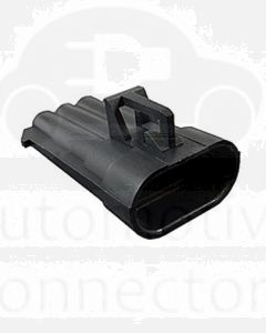 Delphi 12129615 3 Way Black Metri-Pack 150 Sealed Male Connector, Max Current 14 amps