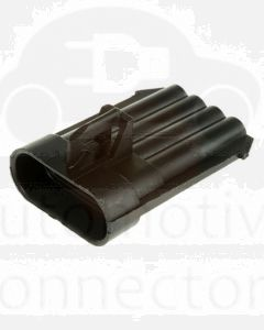 Delphi 12162102 Metri-Pack 150 Series, 4-Way Male Connector, 14 Amp Max