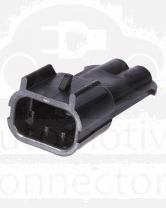 Delphi 15300002 2 Way Black Metri-Pack 280 Sealed Male Connector, Max Current 30 amps