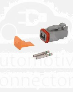 Deutsch DT Series 2 Way Plug Connector Kit with Green Band Contacts