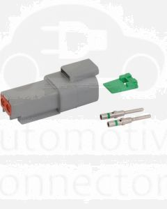 Deutsch DT Series 2 Way Receptacle Connector Kit with Green Band Contacts