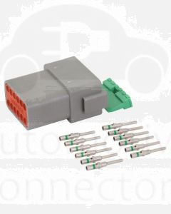 Deutsch DT Series 12 Way Plug Connector Kit with Green Band Contacts
