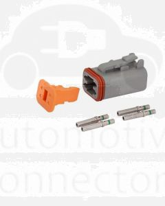 Deutsch DT Series 4 Way Plug Connector Kit with Green Band Contacts