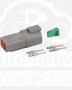 Deutsch DT Series 4 Way Receptacle Connector Kit with Green Band Contacts