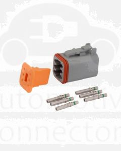 Deutsch DT Series 6 Way Plug Connector Kit with Green Band Contacts