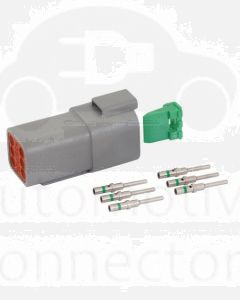 Deutsch DT Series 6 Way Receptacle Connector Kit with Green Band Contacts