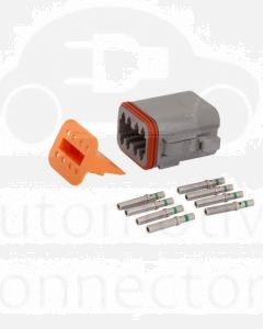 Deutsch DT Series 8 Way Plug Connector Kit with Green Band Contacts