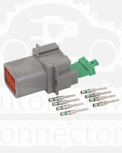 Deutsch DT Series 8 Way Receptacle Connector Kit with Green Band Contacts