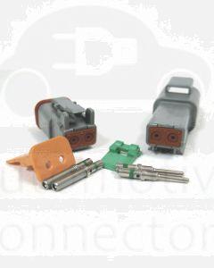 Deutsch DT Series 2 Pin Connector Kit (Green Band)