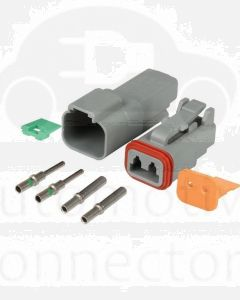 Deutsch DT2-3 2 Way Connector Kit with Nickel Contacts