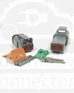 Deutsch DT Series 2 Pin Connector Kit with Reduced Diameter Seals