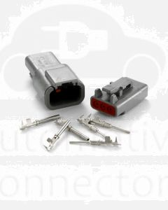 Deutsch DTM Series 3 Way Connector Kit with F Crimp Contacts