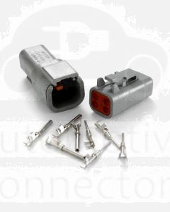 Deutsch DTM Series 4 Way Connector Kit with F Crimp Contacts