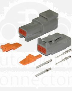 Deutsch DTM Series 2 Way Connector Kit with Nickel Contacts