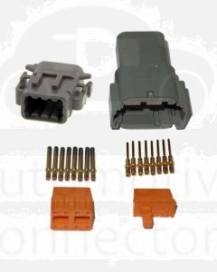 Deutsch DTM Series 8 Way Connector Kit with Gold Contacts