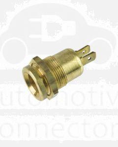 Ionnic DIN Plug Brass Socket - No cap /  12-24V
