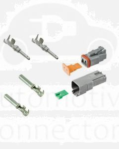 Deutsch DT Series 2 Way Connector Kit with F Crimp Contacts