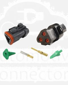 Deutsch DT3-4-CAT 3 Way CAT Spec Connector Kit with Gold Contacts