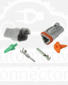 Deutsch DT Series 3 Way Connector Kit with F Crimp Contacts