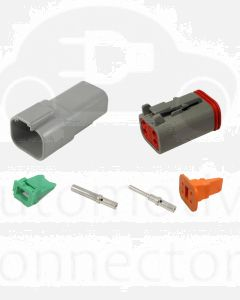 Deutsch DT4-3 4 Way Connector Kit with Nickel Contacts