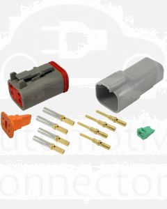 Deutsch DT4-4 4 Way Connector Kit with Gold Contacts