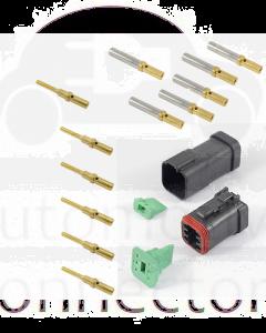 Deutsch DT6-4-CAT 6 Way CAT Spec Connector Kit with Gold Contacts