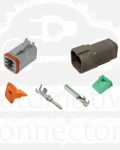 Deutsch DT Series 6 Way Connector Kit with F Crimp Contacts
