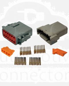 Deutsch DTM Series 12 Way Connector Kit with Gold Contacts