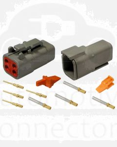 Deutsch DTM Series 4 Way Connector Kit with Gold Contacts