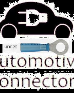 Quikcrimp HDC23 Blue 6mm Heatshrink Ring Terminal