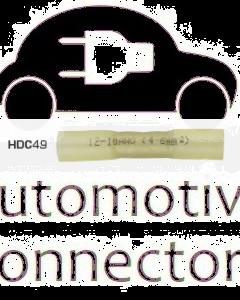 Quikcrimp HDC49 Yellow 12-10AWG Heatshrink Solder Splices Pack of 100