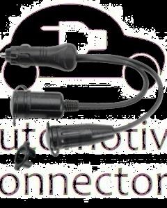 Narva 81042BL Heavy-Duty Adaptor (Cigarette Lighter Plug to Merit and Accessory Sockets)