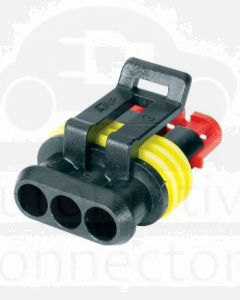 Hella Mining HM4983-P 3 Pole Super Seal Plug (Pack of 3)