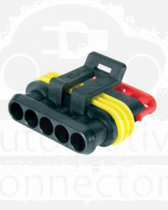 Hella Mining HM4985-P 5 Pole Super Seal Plug (Pack of 2)