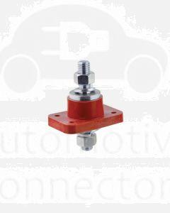 "Bussmann C1938-1R Single Stud 5/16"" Junction Block - Red 200A"