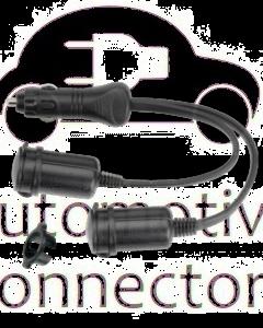 Narva 81033BL Heavy-Duty Adaptor (Cigarette Lighter Plug to Twin Accessory Sockets)