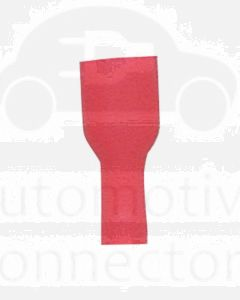 Quikcrimp 0.5 - 1.5mm2 Fully Insulated Qc Female Terminal Red Nylon Pack of 100